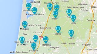 Trouver un passage de l'Unité Mobile de Soins Dentaires Mutualiste de la Mutualité Française Landes
